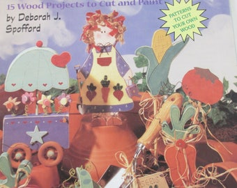"K Decorative 1996 Tole painting Plaid "" Garden Whimsicals "" By Deborah Spofford used booklet 24  pages"