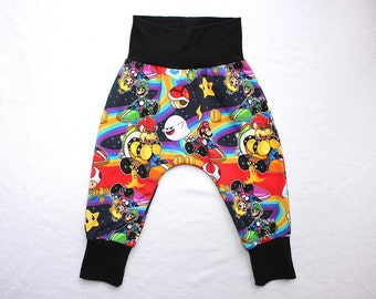 Mario Kart Baby Harem Pants 0-6 years Toddler Boy Mario Kart Harem Pants Infant Nintendo Harem Pants Baby Gamer Outfit Boys Mario Brothers