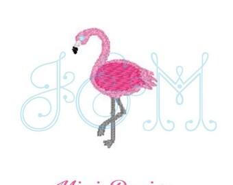 Mae the Mingo Mini Embroidery Monogram Motif Flamingo