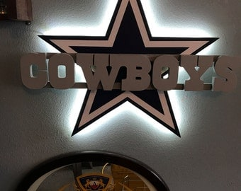Dallas Cowboys 3D LED wall Decor