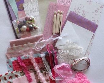 Craft pack, scrapbooking,mixed media, inspiration pack, paper craft, fabric craft, card making, craft supplies