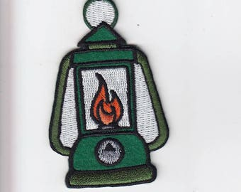 Ole Camping Lantern embroidered patches - 3 types Red & Green styles