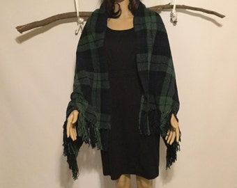 Blanket Wrap/Plaid  Blanket Scarf/Winter Scarf, Oversized Scarf, Plaid Tartan Scarf, chunky scarf