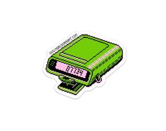 HELLO Beeper Sticker 80s 90s pager 8bit art gamer pixels retro
