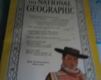February 1960 National Geographic Magazine. Coca COLA ad on back.