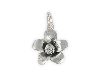 Cherry Blossom Charm Jewelry Sterling Silver Handmade Flower Charm CBB1-C