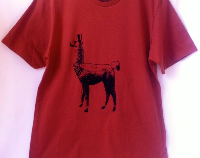 Llama print short or long sleeve Unisex Adult - FREE shipping