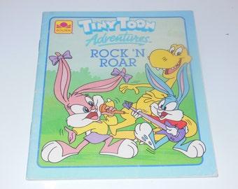 Tiny Toon Adventures Rock 'N Roar Book Vintage Softcover Children's