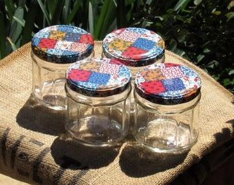 Set of 4 Anchor Hocking Jars with metal lids