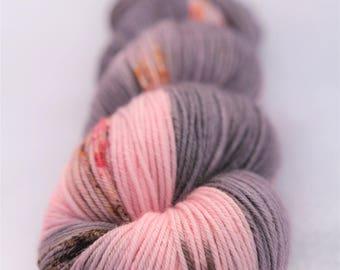Hand-dyed yarn - sock yarn - superwash - merino - dyed-to-order - speckles - ROSE-MARIE