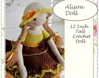 Doll, Crochet doll, 12 Inch tall Finished Chepidoll