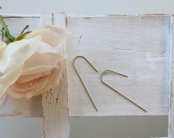 Simple brass earrings