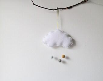 Mini Cloud mobile/wall hanging//mint mix...