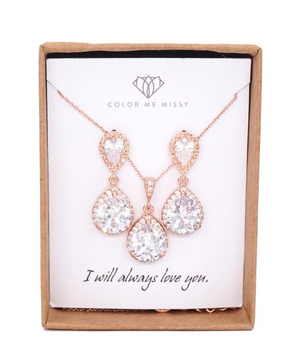 Rose gold,Bridesmaids Earrings,Personalized Bridesmaids Gift,luxe Crystal Earrings,Bridesmaids Gifts,Spring Wedding ,be my bridesmaid,Jaina