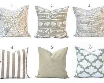 "One Tan pillow cover, Taupe Pillow, Brown Pillow, Tan Pillow, Throw Pillow, Decorative Pillow, Accent Pillow, 12"", 14"", 16"", 18"", 20"", 22"""