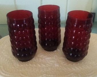 Rare Vintage red bubble glasses