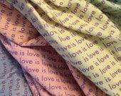 Love is Love Jersey Knit Infinity Scarf