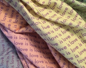 Love is Love Jersey Knit Infinity Scarf