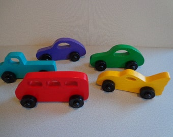 Vehicle Wooden Toys, Kids Party Favors, Toy Vehicles, Birthday Gift for Boy,Toy for Toddler, Wooden Toy Car, Truck, Bus, Kids Party Favors