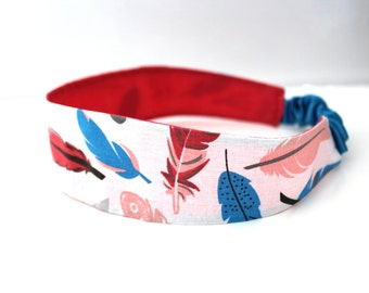 Headband  girl feathers