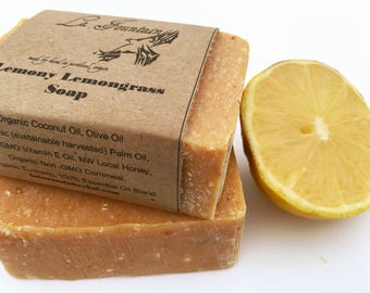 Lemony Lemongrass Soap, Handmade Soap, Organic Soap