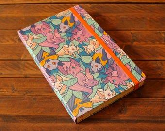 Patterned A5 Sketchbook - Bats