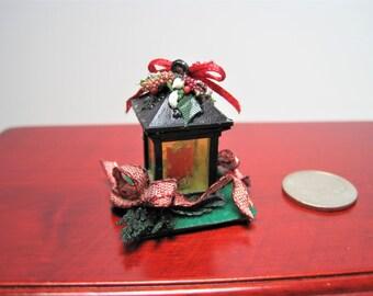 Dollhouse Miniature Christmas Lantern ~ Miniature Holiday ~ Christmas Decoration ~