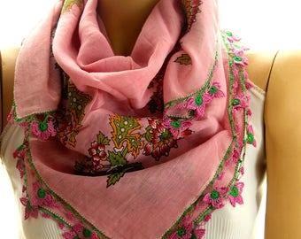 Authentic shawl - Yemeni Scarf - Turkish Oya Scarf - Needle Crochet Yemeni - Handmade Shawl