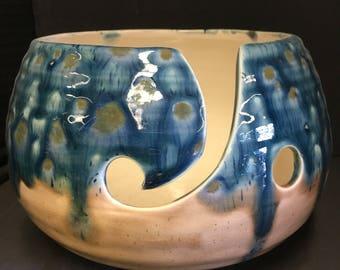 Lg Ceramic Yarn Bowl, Knitting Bowl, Crochet Bowl