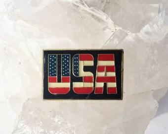 Vintage USA Lapel Pin