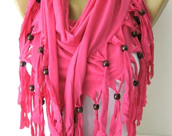 Pink Scarf- Cotton Scarf-Shawls-Scarves-gift Ideas For Her Women's Scarves-christmas gift- for her -Fashion accessories