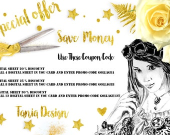 SAVE YOU MONEY - Digital Collage sheet - How to use coupon codes - please don't purchase this listing