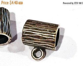 1 JBB Findings Antiqued Silver 5mm Lined Charm Holders with loop