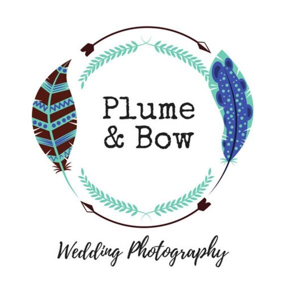 Photography Logo I Wedding Logo I Boho Logo I Bohemian I Feathers I Arrows I Premade Logo I Custom Logo I Logo Design I Branding Logo