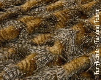Faux Fur Medium Brown Feather Fur - Fabric - Shag, Crafts, Sewing, Baby & Pet  Photo Props