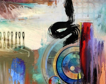Abstract Art Fine Art Print  •  Contemporary Painting Reproduction • SEE •  Modern Art Painting