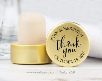 Thank You Keepsake Personalized Wine Stopper - Custom Wine Stopper - Wood Wine Stopper - Wedding Favor - Wedding Gift - 037