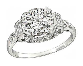Art Deco 2.01ct Diamond Engagement Ring