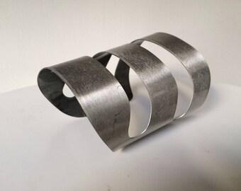 Modernist Stainless Steel Cuff/Bracelet