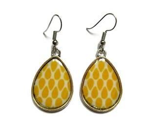 YELLOW EARRINGS - Bridesmaid Earrings - Wedding Jewelry - Dark Yellow - Drop Earrings - Teardrop Earrings - Ethnic Earrings
