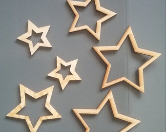 Christmas ornaments, set of 6