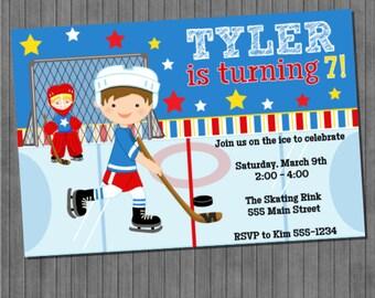 Hockey Party Invitations