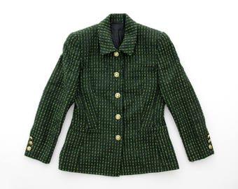 Vintage Jacket // Escada Green Blazer