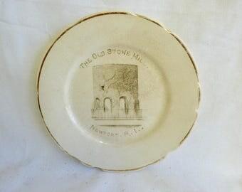 Old Stone Mill  Newport RI Souvenir Plate