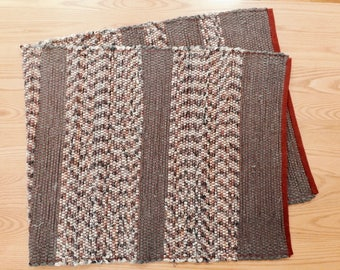 "Handwoven Wool Rag Rug/Runner  24-1/2"" Wide, 5 Feet Long"