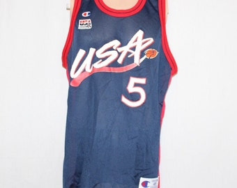 Vintage Dream Team II Grant Hill Champion Jersey 48