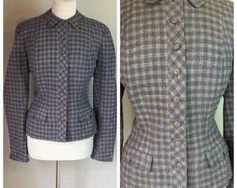 Vintage Purple Tweed 40's Blazer