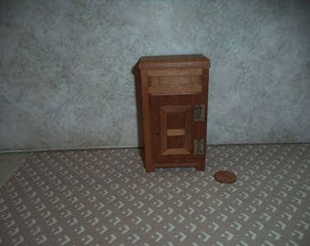 Slightly smaller than 1:12 scale Dollhouse Miniature Vintage Ice Box