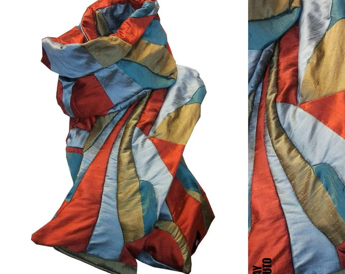 Free shipping Scarf Amorph silk shawl SUNSET SEA