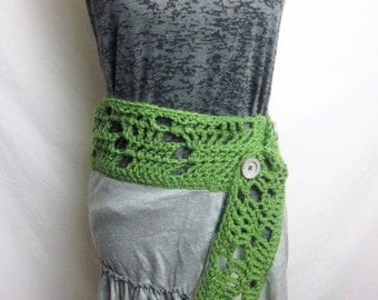 Wrap Skirt- Grey/Green One Size